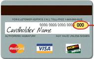 Master Card Sicherheitscode